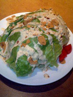 ドーム型レタスサラダ