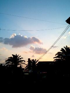 岸和田の夕空