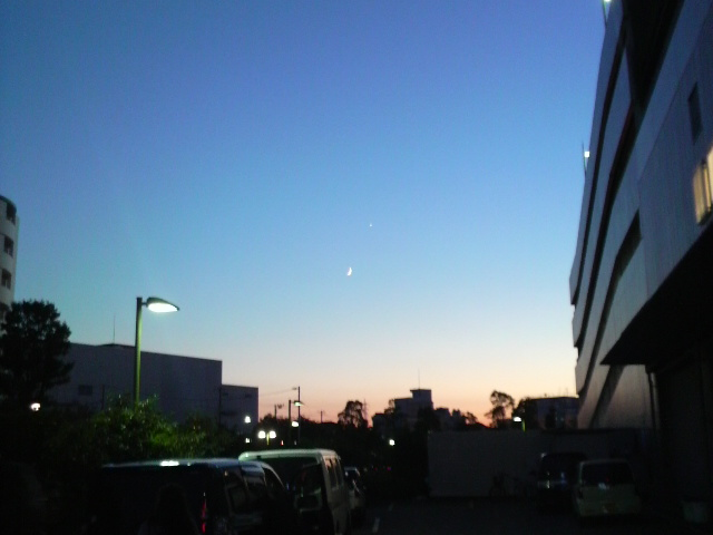 埼玉の夕暮れ
