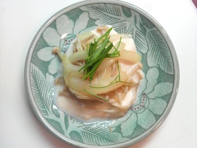 有機おぼろ豆腐が夜食です