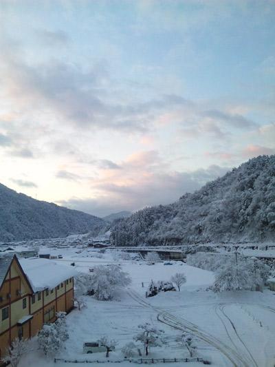 郡上の雪景色