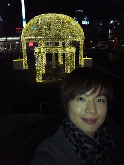 福井駅前のイルミネーション